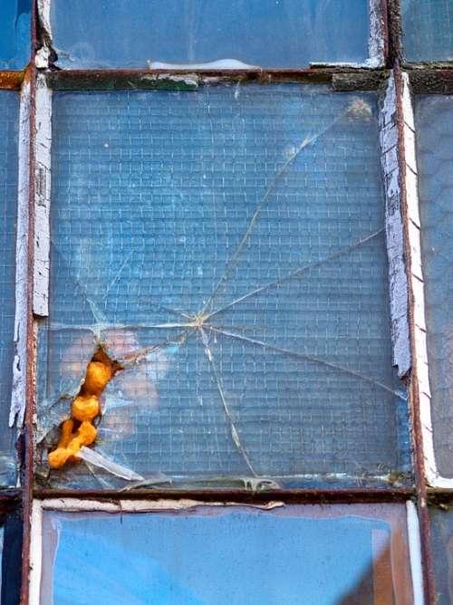 Glass Window Broken Damaged Rough Damage