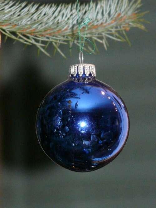 Glass Ball Blue Christmas Depend Sparkle