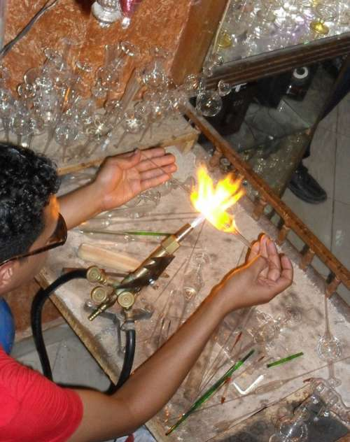 Glass Blower Egypt Arts Crafts