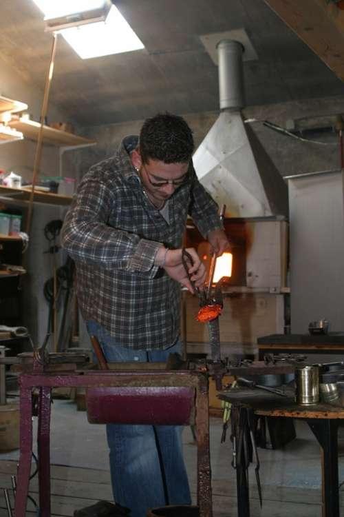Glass Blower Bavarian Forest Bavaria Craft