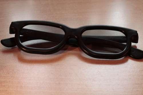 Glasses Black 3D Glasses