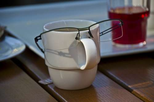 Glasses Cup Face