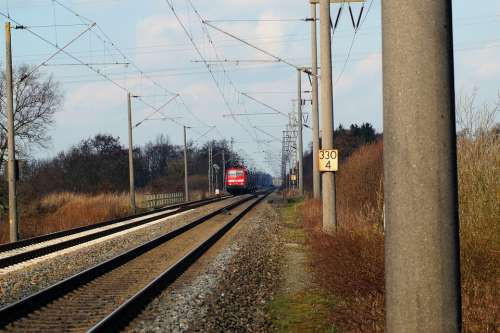 Gleise Rails Train Locomotive Transport