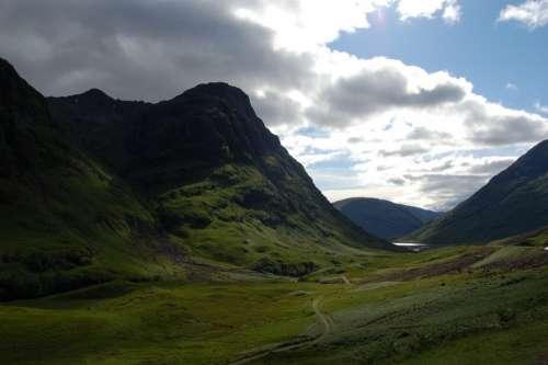 Glencoe Glen Mountains Highlands Landscape Scenic