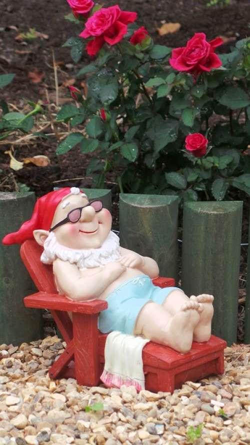 Gnome Garden Decorative Sunbathing Fairytale