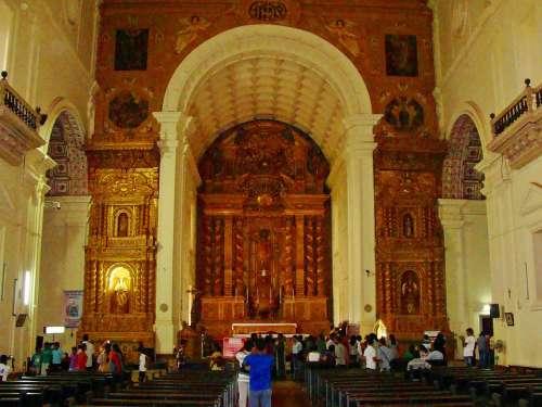 Goa Church Cathedral City Historic Centre India