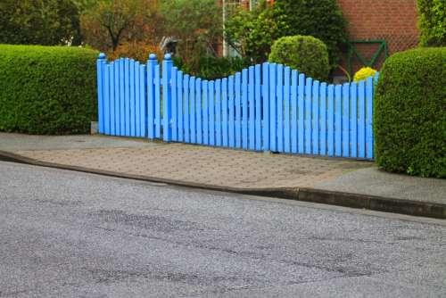 Goal Garden Gate Fence Hedge Blue Rest Mood