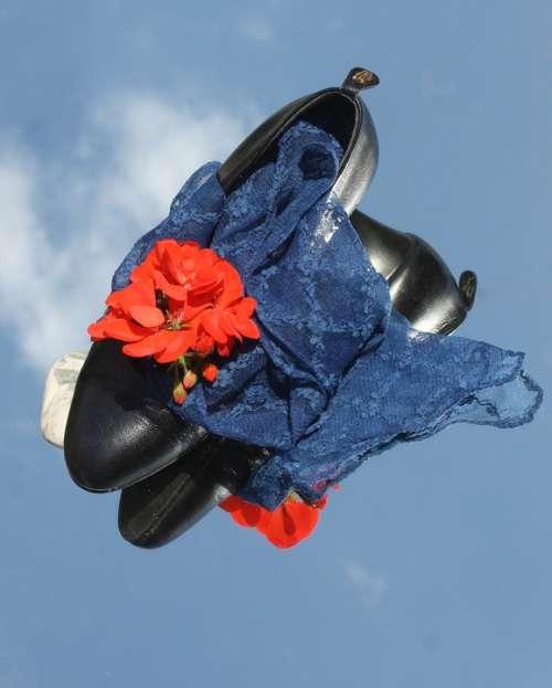 Going Out Shoe Pumps Evening Cloth Blue