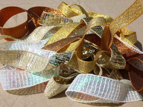 Gold Ribbon Trims Sewing Haberdashery Ribbon Sew