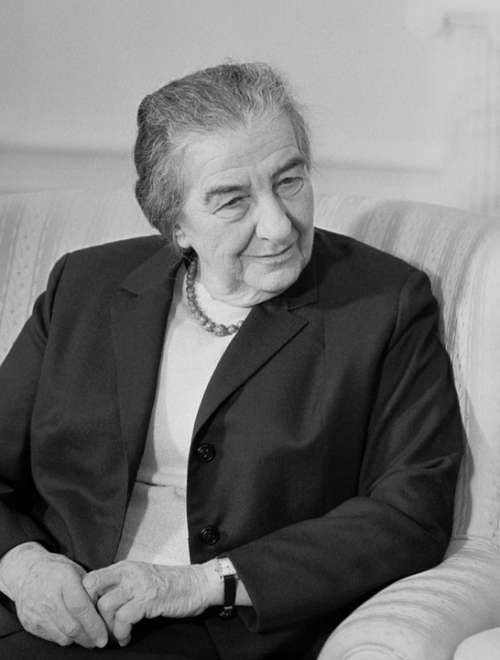 Golda Meir Female Israeli Prime Minister Teacher