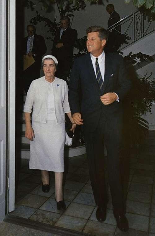 Golda Meir President John F Kennedy American