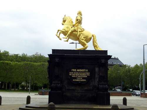 Golden Rider Dresden Golden Horse Reiter Monument