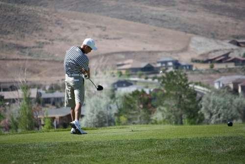 Golf Golfing Driver Tee Shot Golf Club Athlete