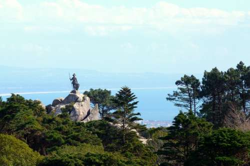 Good View Statue Sculpture Nature Sky Forest Sea