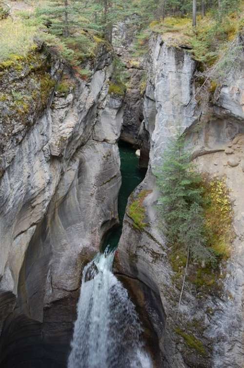 Gorge Canyon Waterfall Forest Stream River