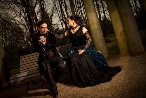 Gothic Casal Poetry Pose Beautiful Serene Art