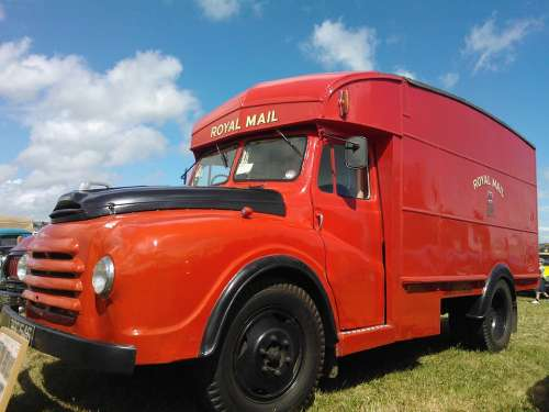 Gpo Van Post Office Lorry Red Vehicle Vintage Old