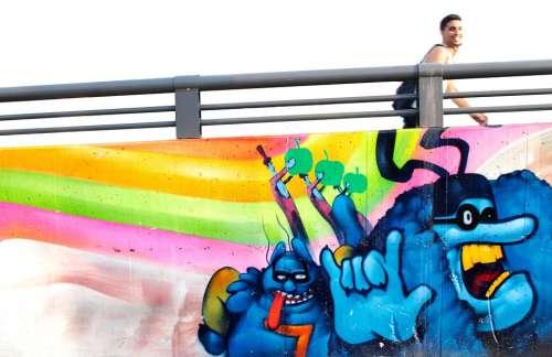 Graffiti Wall Road Mural Street Art Background