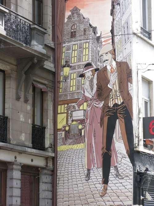 Graffiti Brussels Wall House Facade