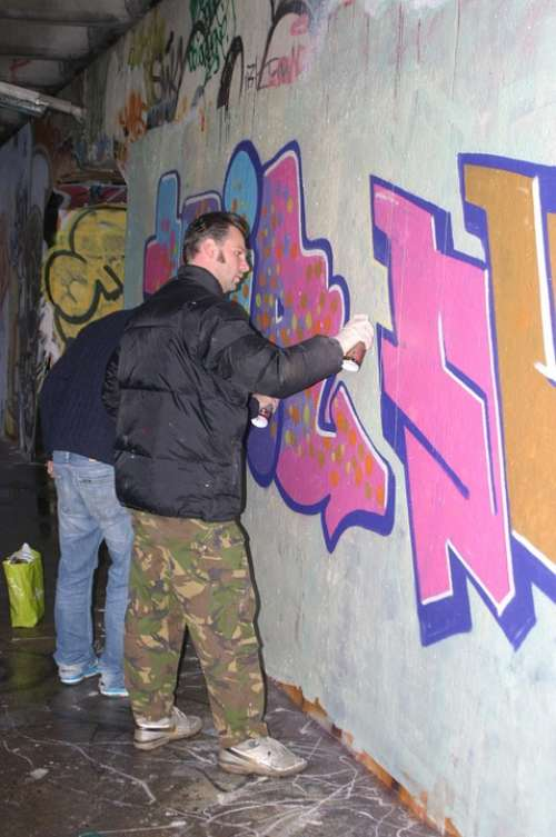 Graffiti Vandalism Amsterdam Holland Bridge