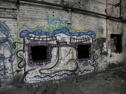Graffiti Wall Cologne Deutz Ag Deutz Factory Khd
