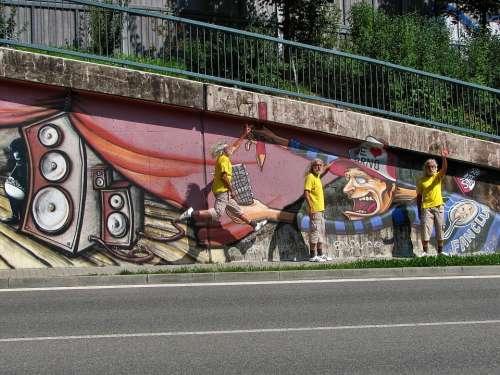 Graffiti Graffiti Wall Brno Czech Paint Spray