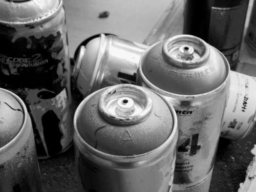 Graffiti Painting Tag Black And White Art Bomb