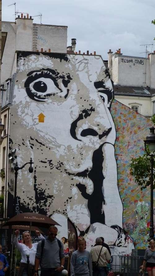 Graffiti Hauswand House Facade Wall Painting