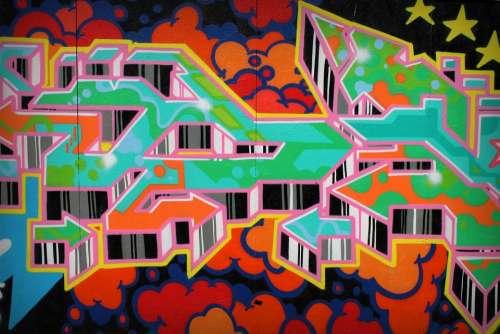 Graffiti Hamburg Wall Colorful Painting Art