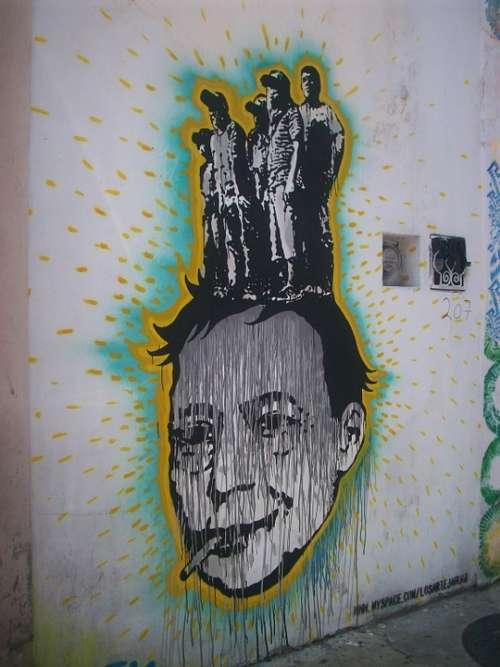 Graffiti Image Colorful Street Oaxaca Mexico