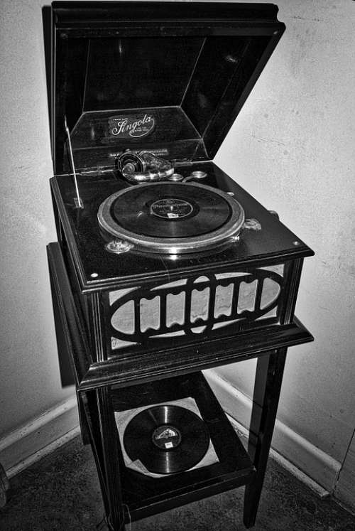 Gramophone Record Player Old Historic Vintage