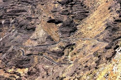 Gran Canaria Street Mountain Pass Serpentines