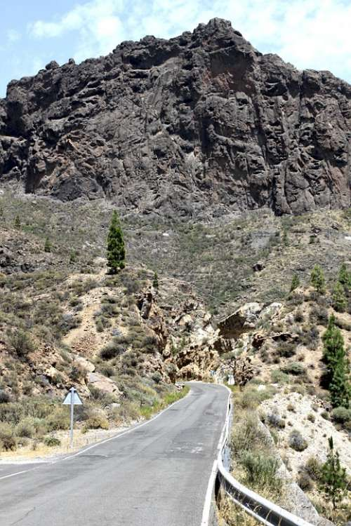 Gran Canaria Road Street Rocks Canary Islands