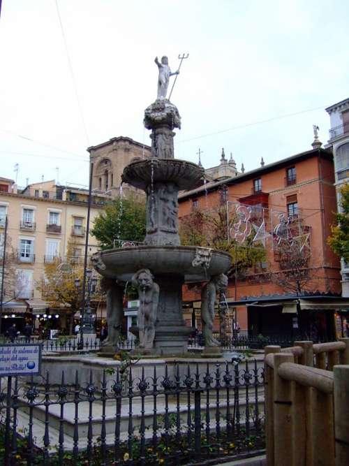 Granada Andalusia Spain Plaza Bib Rambla