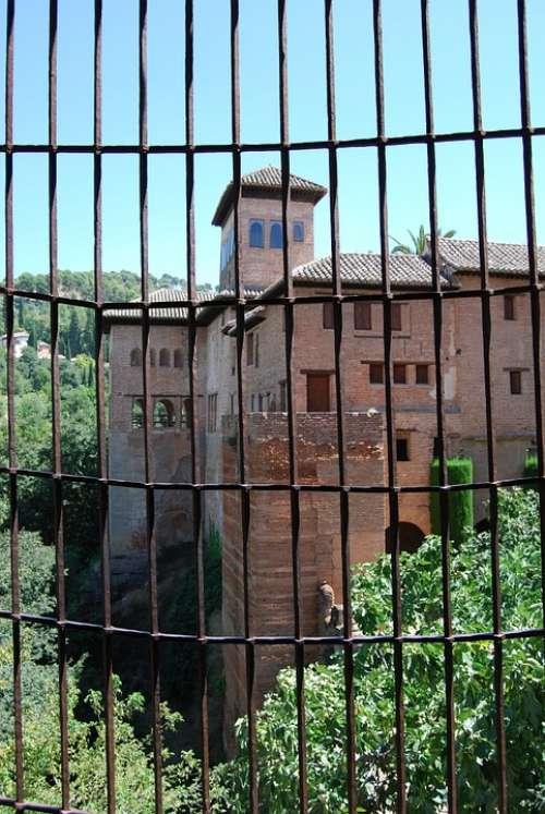 Granada Alhambra Park Grateful Palazzo Medieval