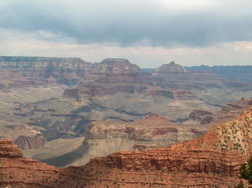 Grand Canyon Scenic Mountains Utah America Usa