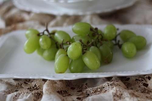 Grapes Fruit Green Close-Up Green Fruit