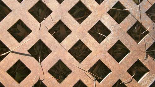 Grating Detail Forging Wrought Iron Metal Design