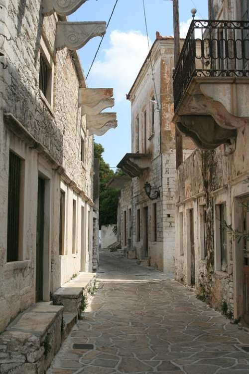 Greece Architecture The Old Town Monuments Paros