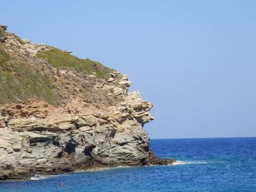 Greek Islands Andros Cyclades Cycladic Sea Aegean