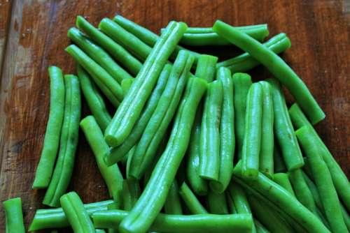 Green Beans Legumes Fresh Cut Vegetable Produce