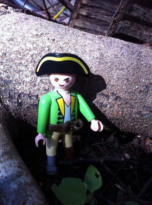 Green Coat Captain Pirate Garden Outdoors Play