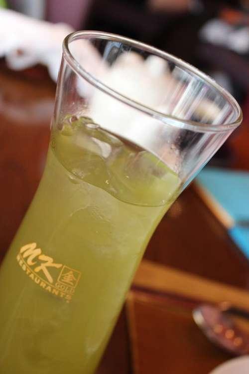 Green Tea Thai Iced Cold Restaurant Café Dining