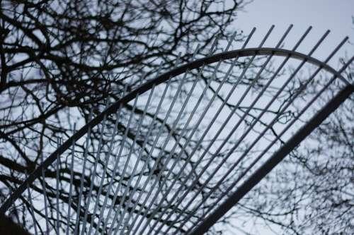 Grid Fence Rays Metal Iron