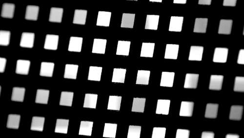 Grid Abstract Black Pattern Decorative Grill