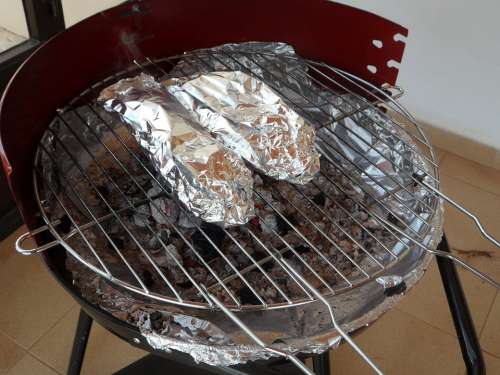 Grill Barbecue Charcoal Grill Aluminum Foil Packed