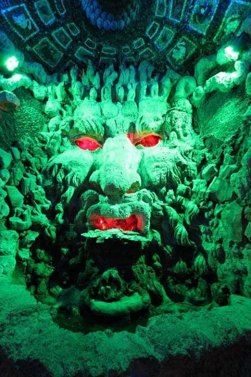 Grotto Hell Spirit Mask Gods Underground