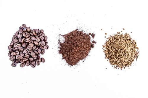 Ground Ground Coffee Isolated Heap Grain Instant