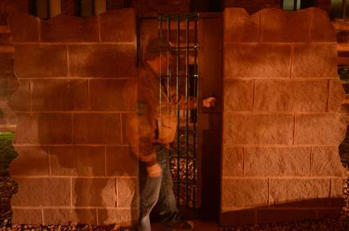 Guard Jail Night Wall Burglar