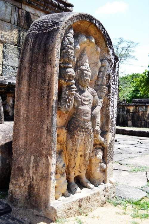 Guard Stone Mura Gala Polonnaruwa Ancient Ruins